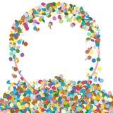 Абстрактная красочная круглая форменная панель текста с фрагментом Confetti Стоковые Фотографии RF