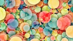 Абстрактная красочная петля кругов иллюстрация вектора