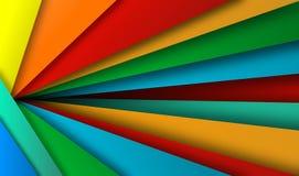 Абстрактная красочная предпосылка, вектор, иллюстрация, бумажное искусство стоковые фотографии rf