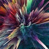 Абстрактная красочная предпосылка взрыва Крупный план, иллюстрация наймов для вашей брошюры, рогулька, дизайны знамени и другое иллюстрация штока