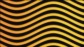Абстрактная красочная предпосылка с черными и желтыми волнами пропуская медленно, безшовная петля r яркие волнистые линии бесплатная иллюстрация