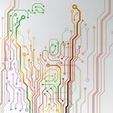 Абстрактная красочная предпосылка монтажной платы. выровнянная цепью иллюстрация картины Стоковая Фотография RF