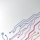 Абстрактная красочная предпосылка монтажной платы. выровнянная цепью иллюстрация картины Стоковые Изображения RF