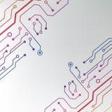 Абстрактная красочная предпосылка монтажной платы. выровнянная цепью иллюстрация картины Стоковое фото RF