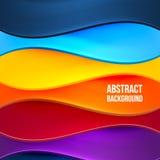 Абстрактная красочная предпосылка с волнами Стоковое Фото