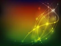 Абстрактная красочная предпосылка с линиями и bokeh Стоковое Фото