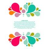 Абстрактная красочная предпосылка с местом для вашего текста, элементом падения Стоковая Фотография RF