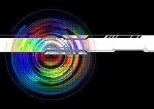 Абстрактная красочная предпосылка технологии Бесплатная Иллюстрация