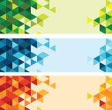 Абстрактная красочная предпосылка треугольника Стоковое фото RF