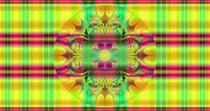Абстрактная красочная предпосылка цветка с детальной быстрой кричащей гипнотической картиной и красивой взаимообменивая картиной  иллюстрация штока