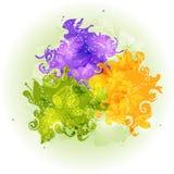 Абстрактная красочная счастливая предпосылка Holi Дизайн для индийского фестиваля цветов Стоковое Изображение RF