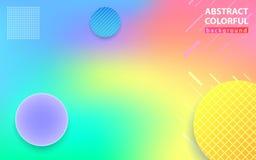 Абстрактная красочная тенденция предпосылки, иллюстрация бесплатная иллюстрация