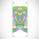 Абстрактная красочная форма, элемент для орнамента Стоковое Изображение