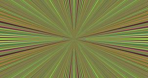 Абстрактная красочная центральная звезда с детализированной медленно сходясь и расходясь картиной иллюстрация штока