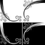 Абстрактная кривый свирли Стоковая Фотография RF