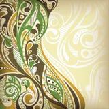 абстрактная кривый флористическая иллюстрация штока