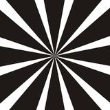 Абстрактная круговая геометрическая форма Черно-белые лучи солнца, элемент лучей Sunburst, картина starburst Стоковое Изображение