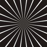 Абстрактная круговая геометрическая форма Черно-белые лучи солнца, элемент лучей Sunburst, картина starburst Стоковые Фото