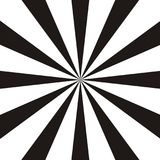 Абстрактная круговая геометрическая форма Черно-белые лучи солнца, элемент лучей Sunburst, картина starburst иллюстрация штока