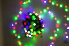Абстрактная круговая предпосылка bokeh света рождества стоковое изображение rf