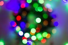 Абстрактная круговая предпосылка bokeh света рождества стоковое фото rf
