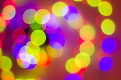 Абстрактная круговая предпосылка bokeh света рождества стоковая фотография