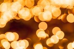 Абстрактная круговая предпосылка bokeh Christmaslight Стоковое Изображение RF