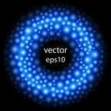 Абстрактная круглая граница Предпосылка клетки шарики голубые Молекулярный st Стоковое фото RF