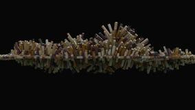 абстрактная кубическая сетка 4K иллюстрация вектора