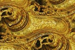 абстрактная латунная конструкция богато украшенный Стоковые Изображения RF