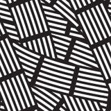 Абстрактная линейная безшовная картина Стоковые Фотографии RF