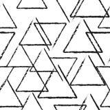 Абстрактная линейная картина вектора треугольника, безшовная картина Стоковое Изображение