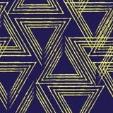 Абстрактная линейная картина вектора треугольника, безшовная картина Стоковое Фото