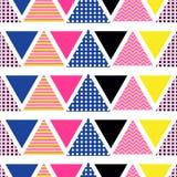 Абстрактная линейная картина вектора треугольника, в стиле Мемфиса, безшовная картина Стоковые Изображения RF