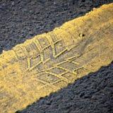 абстрактная линия желтый цвет предпосылки дороги Стоковое фото RF