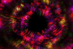 Абстрактная линия от света СИД с зеркалом на черной предпосылке Стоковое Изображение RF