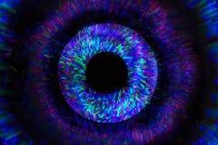 Абстрактная линия от света СИД с зеркалом на черной предпосылке Стоковые Изображения RF