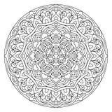 Абстрактная мандала цветка Декоративный этнический элемент для дизайна иллюстрация вектора