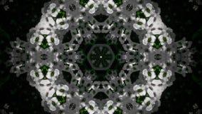 Абстрактная мандала белого цветка Стоковые Фото