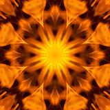 Абстрактная мандала картины силы и пылая огня Стоковые Изображения
