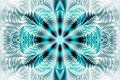 Абстрактная мандала цветка на белой предпосылке Стоковое Изображение RF