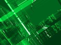 абстрактная матрица зеленого цвета предпосылки Стоковые Изображения RF