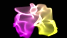 Абстрактная машинная графика влияния рассвета цифров представленная на черной предпосылке сток-видео