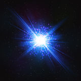 Абстрактная мерцающая космическая внезапная звезда иллюстрация штока