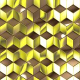 Абстрактная металлическая предпосылка технологии кубов Стоковое Изображение RF