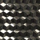 Абстрактная металлическая предпосылка технологии кубов Стоковая Фотография RF