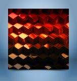 Абстрактная металлическая предпосылка технологии кубов Стоковая Фотография