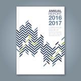 Абстрактная минимальная геометрическая предпосылка дизайна zigzig для обложки книги годового отчета дела Стоковое Изображение