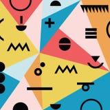 Абстрактная минимальная геометрическая современная ретро материальная картина предпосылки бесплатная иллюстрация