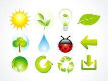 абстрактная многократная цепь иконы элементов eco бесплатная иллюстрация